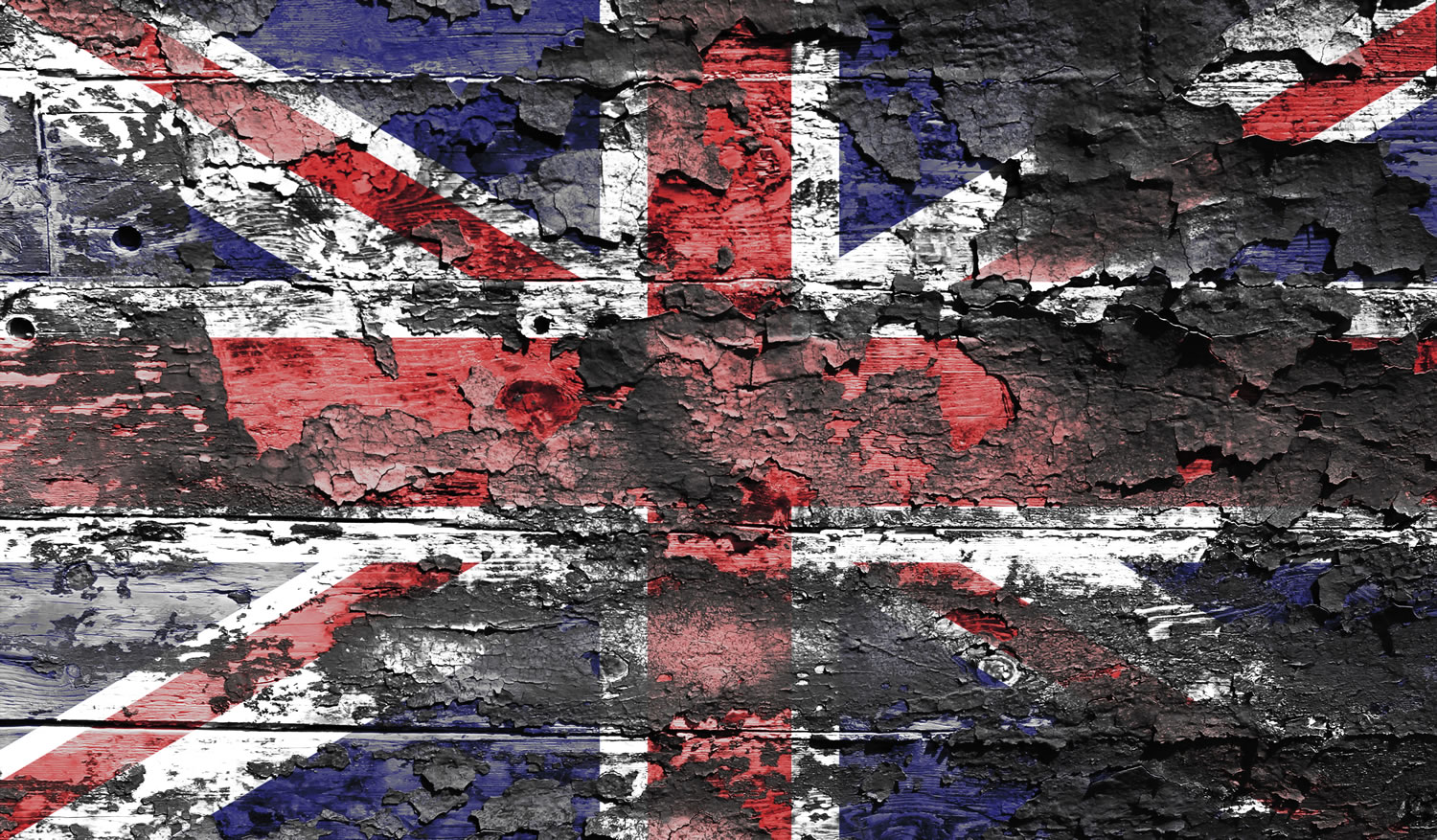 Union Jack Distressed Wallpaper Mural