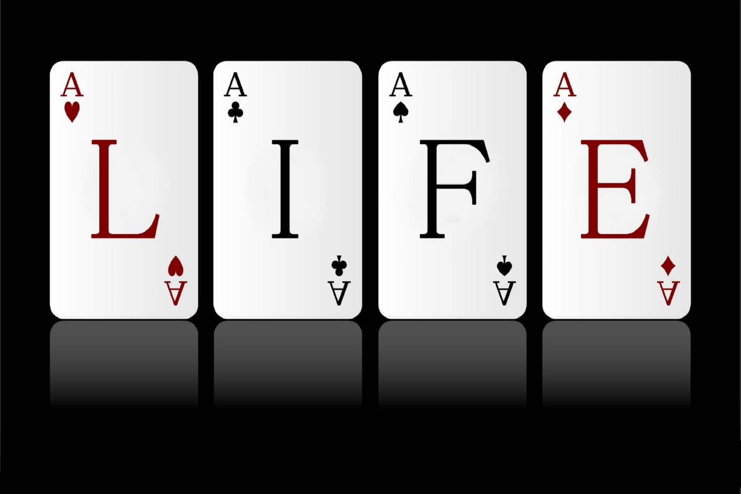 'Life' Playing Cards Wallpaper Mural