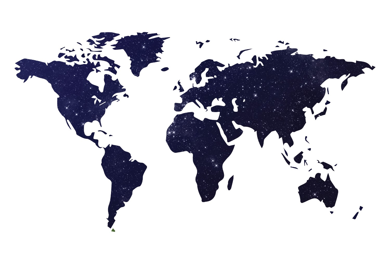 World Map Wallpaper Mural 1