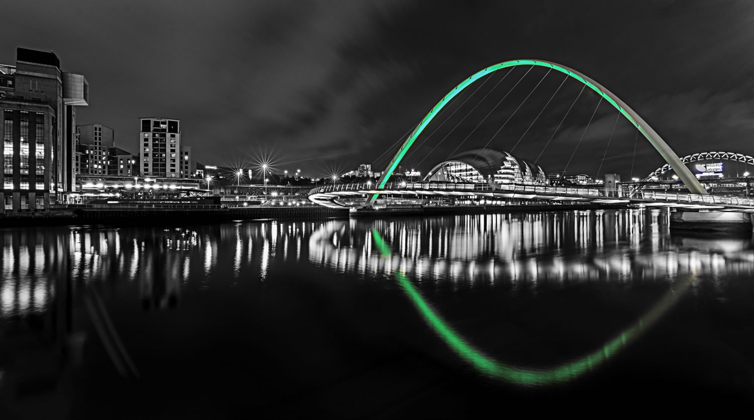 Newcastle At Night Wallpaper Mural