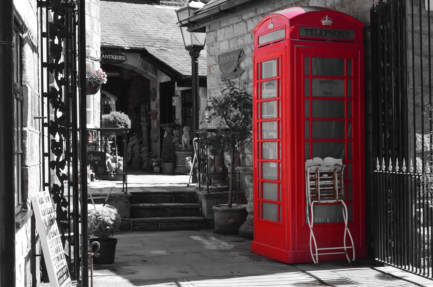 Red Phone Booth Wallpaper Mural