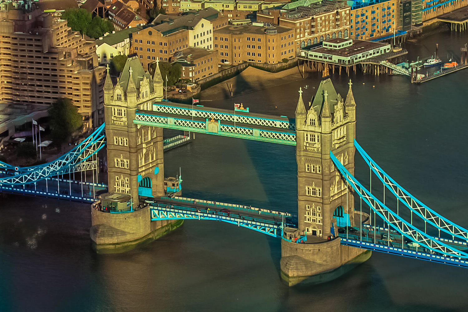 Tower Bridge Ariel Wallpaper Mural