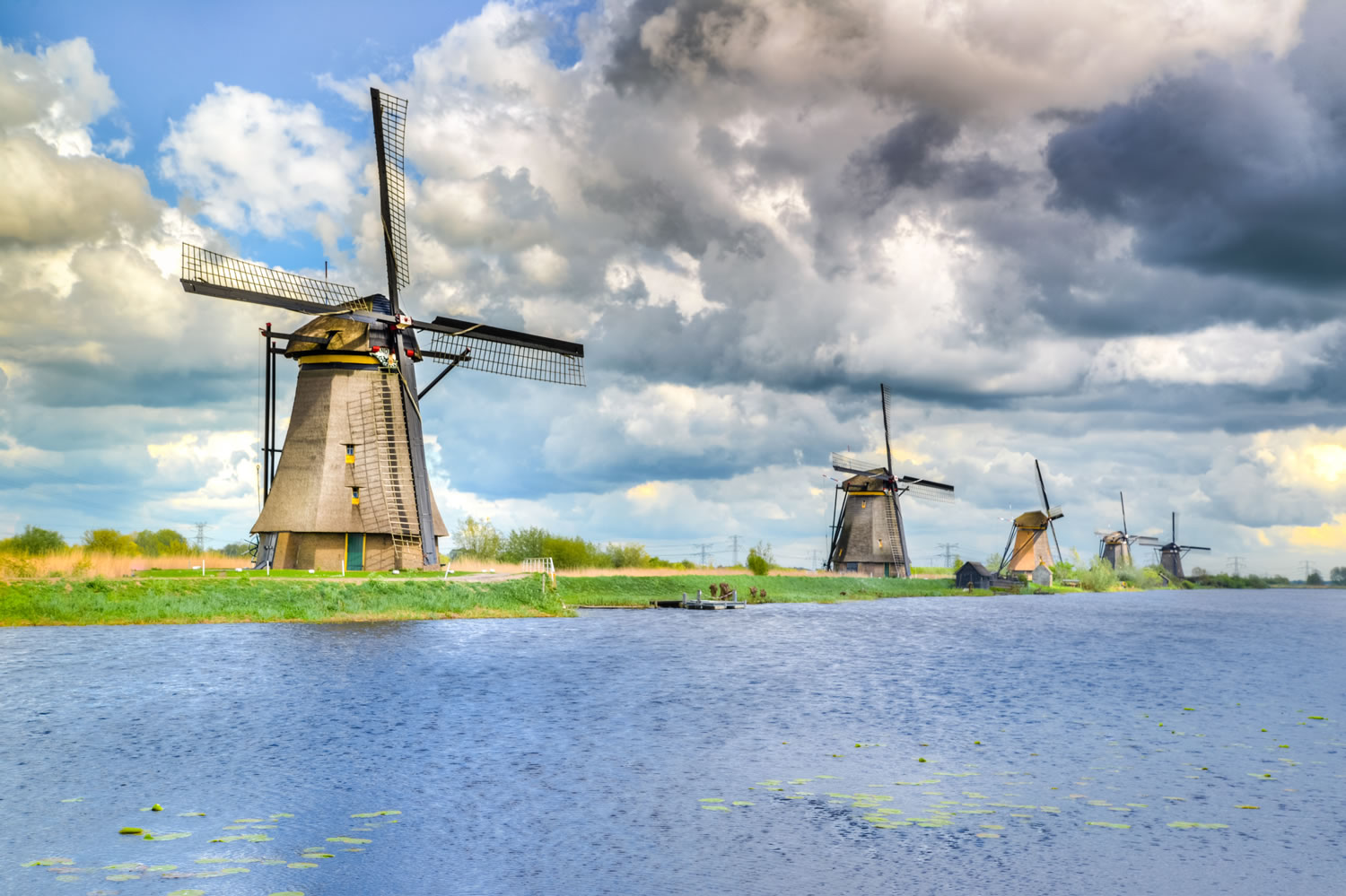 Windmills Wallpaper Mural