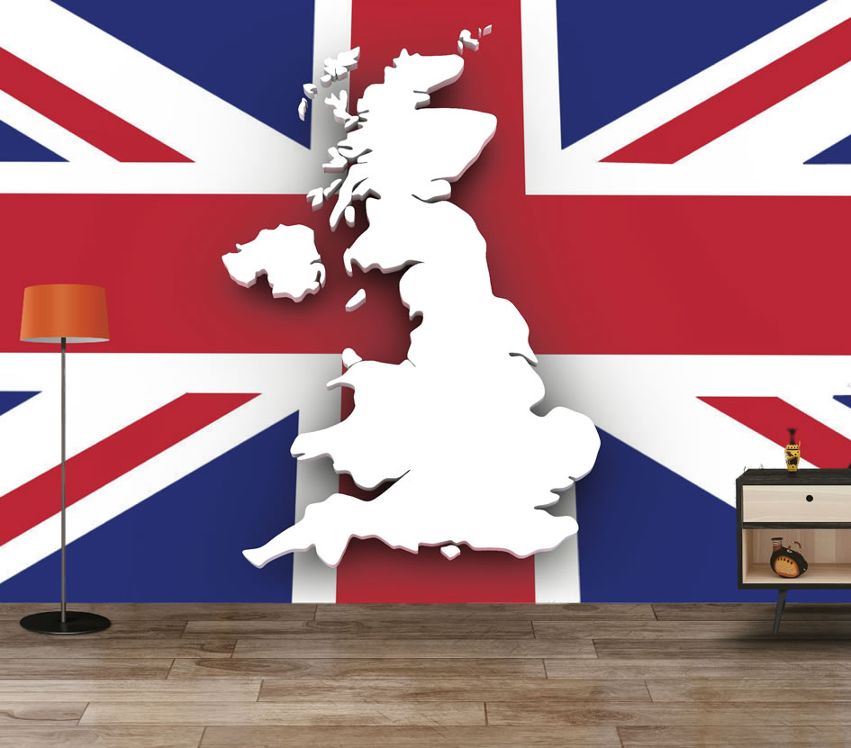 Union Jack Wallpaper Mural